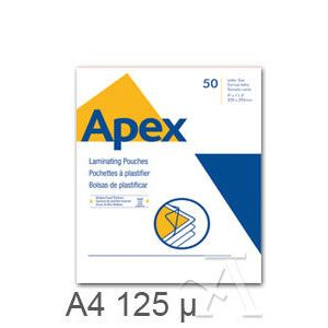 PACK 100 FUNDAS PLASTIFICAR A4 125 MICRAS BRILLO APEX