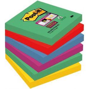 PACK/6 TACOS NOTAS POST-IT 76X76 654 SURTIDOS MAR