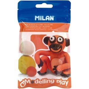 c/12 blister pasta para modelar naranja 100g modelling play