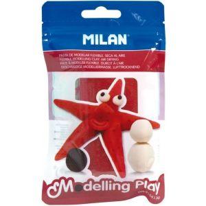 c/12 blister pasta para modelar rojo 100g modelling play