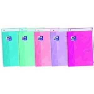 Paq/3 notebook1 a4 80h 90g cuad.5x5 lavanda microperforada tapa extradura