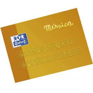 Cuaderno musica a5 apaisado 10h. 5 pentagramas 4mm oxford