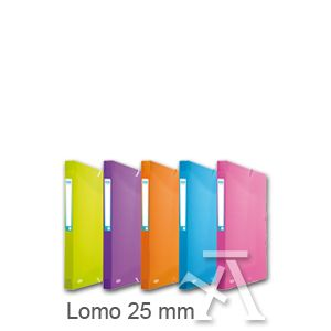 C/10 carpeta proyectos a4+ lomo 25mm polipropileno colores surtidos