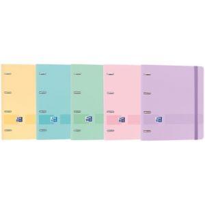 C/10 carpebloc A4+ 4 anillas 35mm + recambio 5 colores pastel