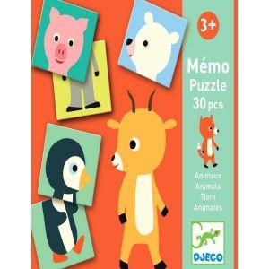 PUZZLE MEMO ANIMALES 30PCS