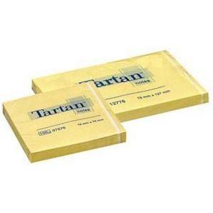 Notas adhesivas 76x76 tartan amarillo