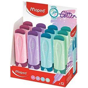 C/12 marcadores pastel con glitter fluo peps colores surtidos