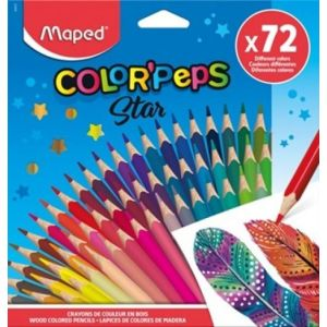 Estuche 72 lapices de colores color'peps star maped