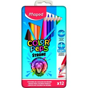 Caja metalica 12 lapices de colores color'peps strong maped