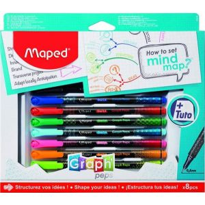 Set how to mind map 8 pzas caja