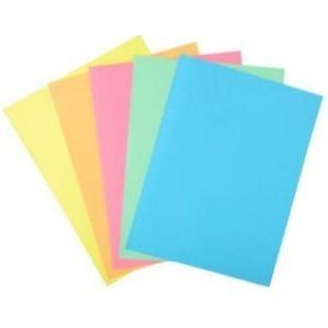 Paq/100 subcarpetas a4 160g con 1 solapa lateral colores surtidos