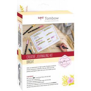 Kit creativo bullet journalig con libreta  amarillo pastel