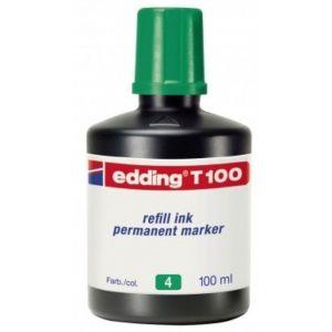 Bote de tinta rotulador edding t-100 100ml verde