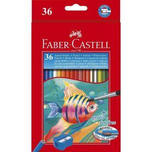 ESTUCHE 36 LAPICES ACUARELABLES + PINCEL FABER-CASTELL
