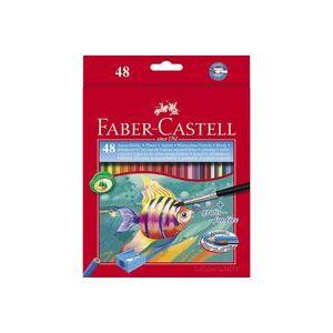 ESTUCHE 48 LAPICES ACUARELABLES + PINCEL FABER-CASTELL