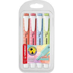 Estuche 4 marcadores fluorescentes stabilo swing cool pastel colores nuevos