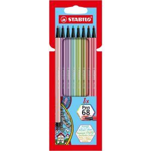 Estuche 8 colores stabilo pen 68 nuevos colores