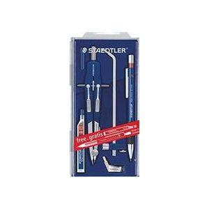 Estuche compas micrometrico mars quickbow 552 con alargadera y portaminas de regalo