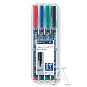 Estuche 4 rotuladores lumocolor 317 punta m colores surtidos