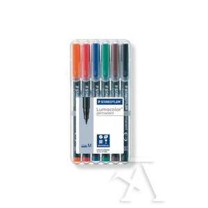 Estuche 6 rotuladores lumocolor 317 punta m colores surtidos