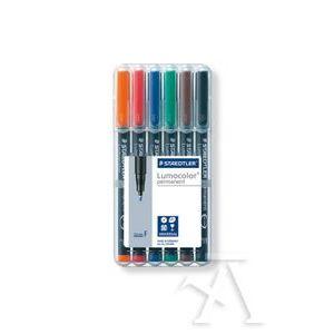 Estuche 6 rotuladores lumocolor 318 punta f colores surtidos