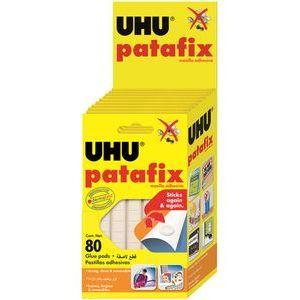 C/12 sobres masilla adhesiva blanca cuarteada Patafix Uhu