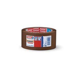 Pack 6 rollos cinta embalaje marron tesapack 4024 66mx50mm poliolefina