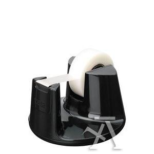 Portarrollos sobremesa easy cut compact negro + tesafilm invisible