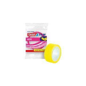 Caja 20 rollos tesafilm neon 10mx19mm amarillo/rosa fluor en bolsita