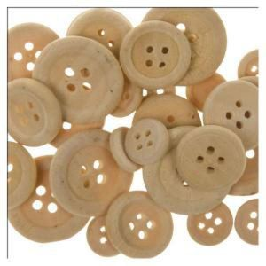 Botones madera natural 22mm 18mm 7mm