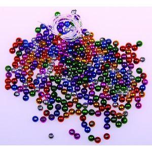 Cuentas metalizadas 5mm colores surtidos 350 unid