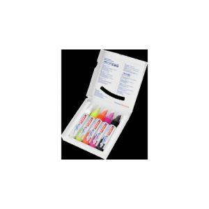 Pack 5 marcador acrilico edding 5000 trazo ancho colores neon