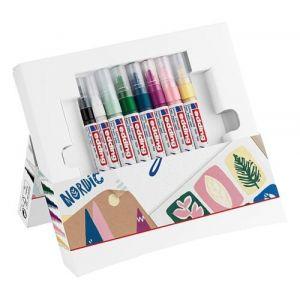 Pack 8 marcador acrilico edding 5000 y 5300 trazo fino y grueso colores surtidos