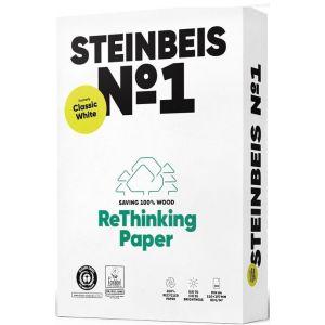 C/5 paquete 500 hojas a4 80g steinbeis classic white papel reciclado