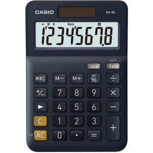 Calculadora sobremesa ms-8e 8 digitos solar/pilas azul