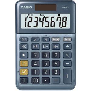 Calculadora sobremesa ms-80e 8 digitos solar/pilas azul