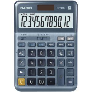Calculadora sobremesa df-120em 12 digitos solar/pilas azul