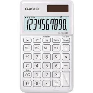 CALCULADORA BOLSILLO SL-1000SC COLOR BLANCO