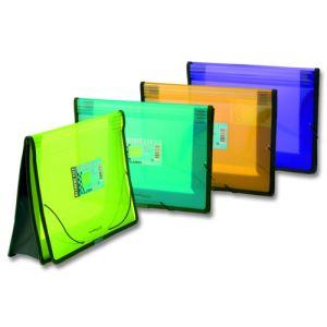 Caja 10 attache portadocumentos expandible 340x260mm ribeteada en tela colores surtidos