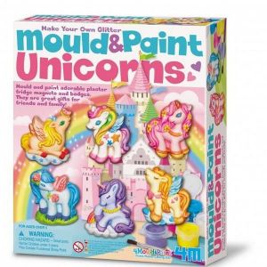 JUEGO 4M Mould & Paint Glitter Unicorns