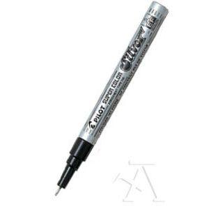c/12 Rotulador super color sc plata punta 1,0mm permanente extra fino