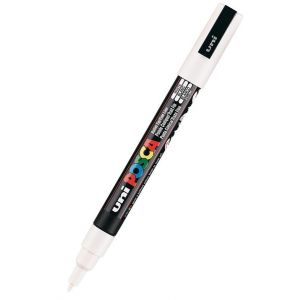 Marcador uni posca pc-3m color blanco 0,9-1,3mm
