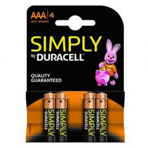 BLISTER 4 PILAS DURACELL SIMPLY LR3 AAA