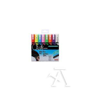 Estuche 8 rotuladores tiza liquida uni-chalk marker pwe-5m