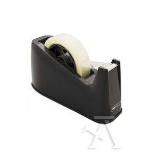 Portarrollos sobremesa rapesco 500 base antideslizante para cinta 33m y 66mx25mm color negro