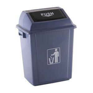 Papelera contenedor plastico con tapa balancin 20 litros color gris 340x240x450