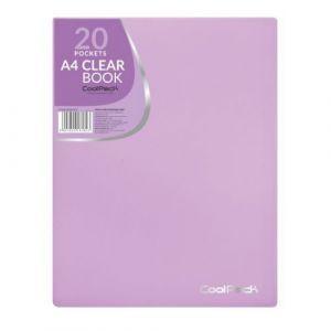 Carpeta 20 fundas a4 soldadas tapa flexible coolpack color morado pastel