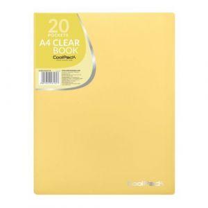 Carpeta 20 fundas a4 soldadas coolpack color amarillo pastel