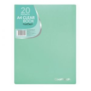 Carpeta 20 fundas a4 soldadas coolpack color verde pastel