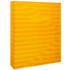 Carpeta a4 anillas 40mm carton forrado color amarilo